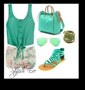 bag,blouse,shorts,sunglasses,jewels,shoes,pants,jeans,so cute! where do i get these?,shirt,top,mint,tank top,tory burch,summer top