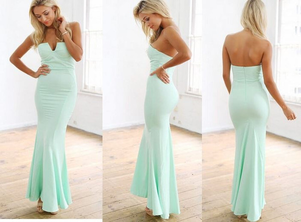 Mint mermaid dress