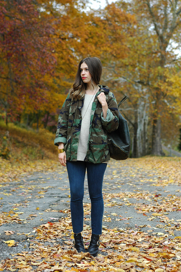 orchid grey jacket sweater jeans shoes jewels bag