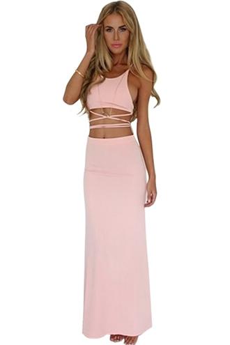 dress long dress cross dress backless dress bandage dress new dress front x dress trendy hipster tumblr