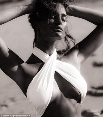 swimwear white grecian-style two-piece bathing suits summer beauty