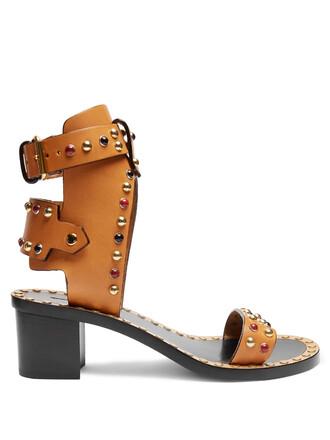 heel sandals tan shoes
