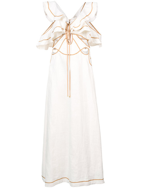 Zimmermann dress women white silk