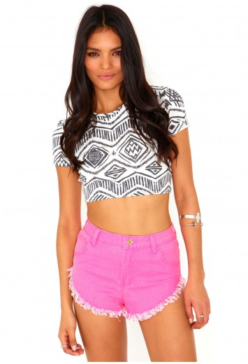 Viv Hot Pants - Shorts - Missguided