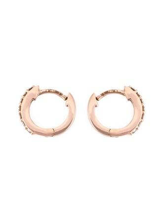 mini women earrings hoop earrings purple pink jewels