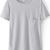Grey Short Sleeve Pocket Loose T-Shirt - Sheinside.com