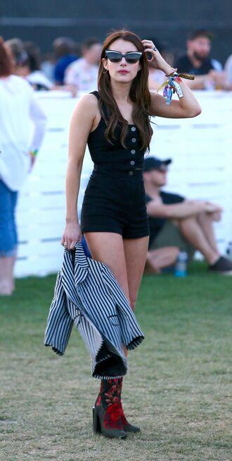 top shorts emma roberts coachella coachella outfit