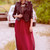 Burgundy Sheer Maxi Skirt - Furor Moda - Tops - Dresses - Jackets - Vintage
