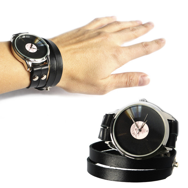 jewels ziz watch watch watch unusual watch designer watch vinyl beautiful watch black watch leather watch unique watch ziziztime exclusive watch