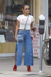 jeans,denim,christina milian,streetstyle,top