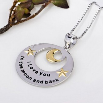 jewels yellow gold plated moon and stars 925 sterling silver round pendant evolees.com necklace women necklace necklace for girls jewelry fashion necklace