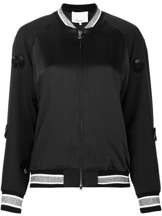 jacket bomber jacket satin bomber women black wool satin