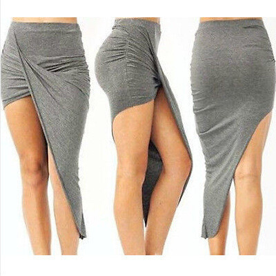 """""""wrap me up"""" wrapped asymmetrical jersey skirt (4 colors available) – glamzelle"""