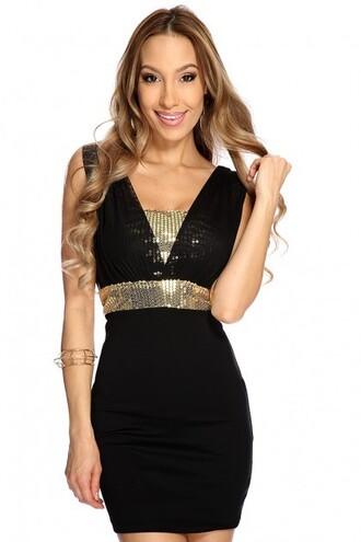 dress holidays winter trend trendy sexy dress holiday dress bling out dress black dress christmas dresses black and gold dress