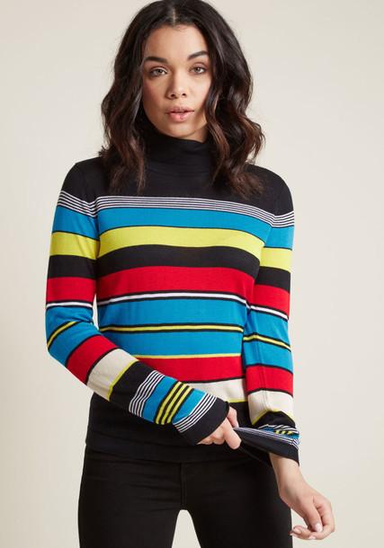 Modcloth sweater turtleneck turtleneck sweater striped turtleneck striped turtleneck sweater old school