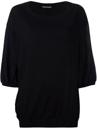 jumper fine knit jumper knit women black wool sweater