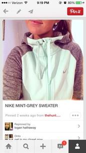 coat,mint,nike,jacket,running,sportswear,athletic