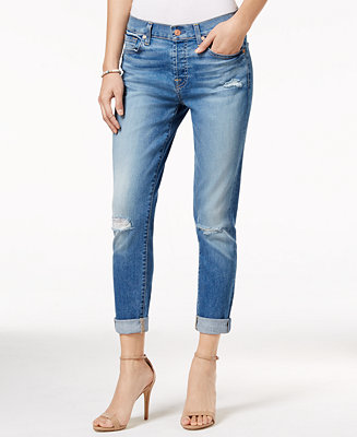 a8a55dc48c162 7 For All Mankind Josephina Ripped Light Laurel Wash Straight-Leg ...