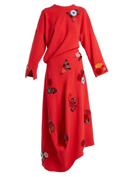 Roksanda dress embellished red