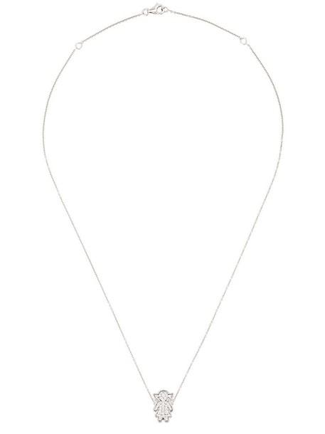women necklace pendant gold white grey metallic jewels
