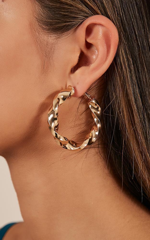Showpo Tears Of Joy earrings in gold The Racewear Edit