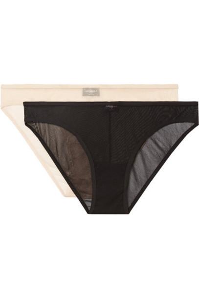 Cosabella mesh black underwear