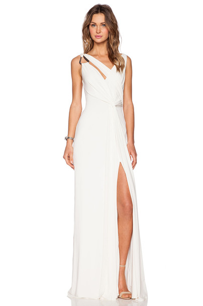 gown back draped