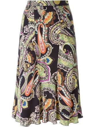 skirt print paisley black