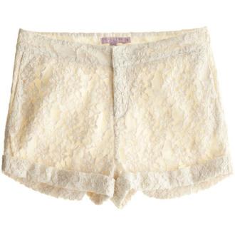 shorts lace lace shorts white