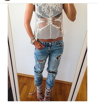 jeans boyfriend ripped jeans ripped boyfriend jeans