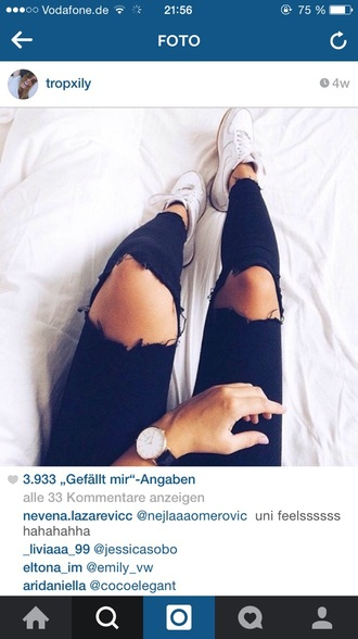 jeans black ripped jeans