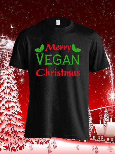 T Shirt Vegan Wazaaashop Christmas Veganism Tank Top