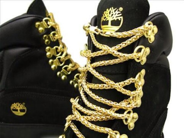 shoes black gold chains boots heels trainers sneakers nike gold chain