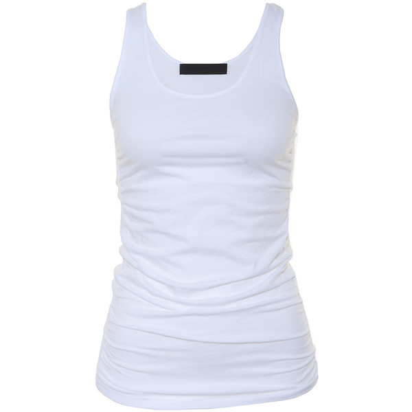 Shirts wrapped tanktop white