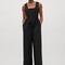Wool jumpsuit with elastic waist - black - jumpsuits - cos us