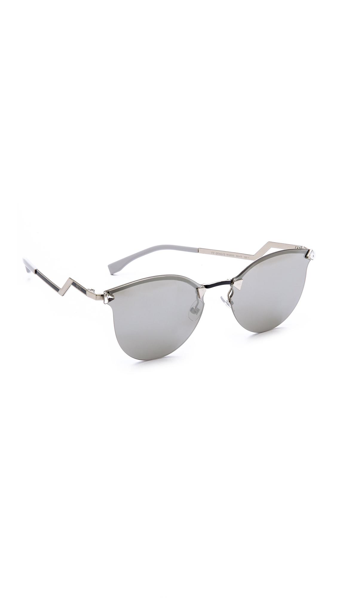 Fendi rimless bottom sunglasses