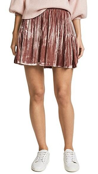 miniskirt pleated velvet rose skirt
