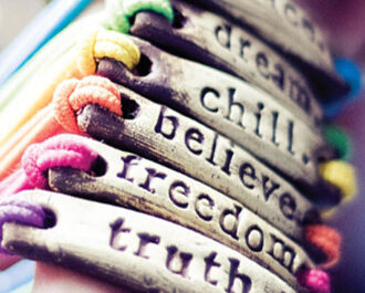jewels chill believe coloures pink green freedom dream girl girly pretty jewelry bracelets truth