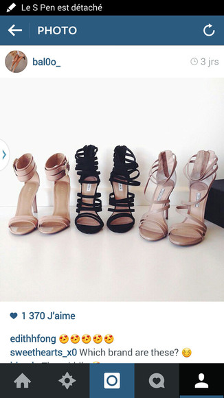 nude shoes black shoes chaussures chaussures ? talons shoes open toes shoes addict classe classy black heels beige high heels