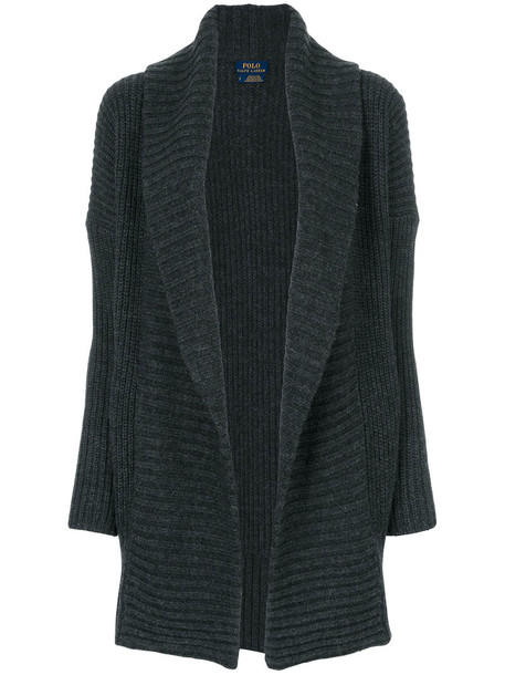 Polo Ralph Lauren cardigan cardigan open women wool grey sweater