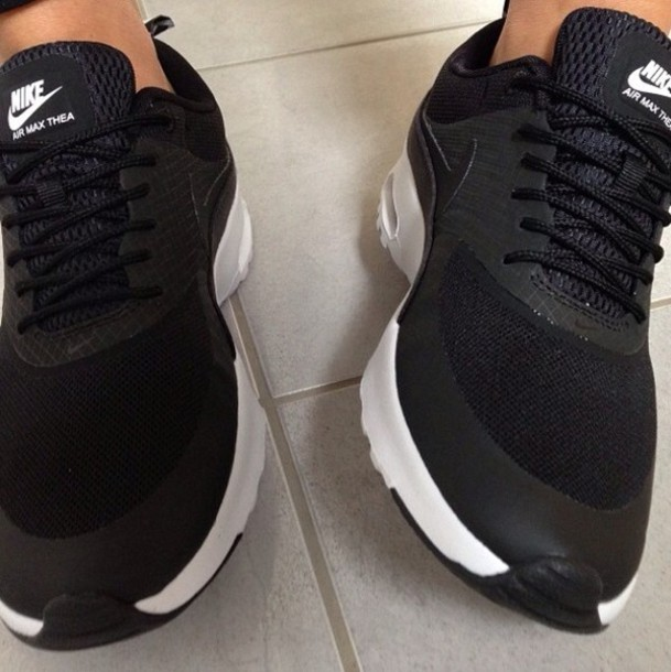 air max black trainers
