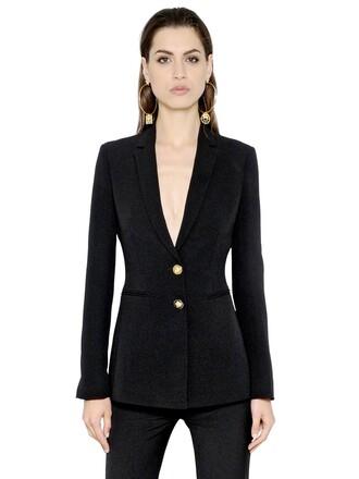 jacket silk black