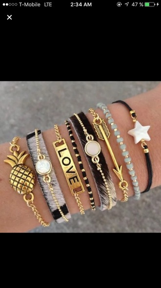 jewels bracelets colorful boho indie style