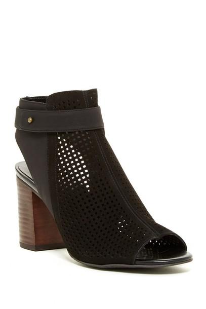 shoes booties sandals stacked wood heel high heel sandals