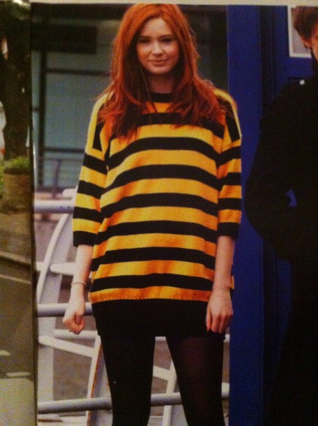 Sweater Black And Yellow Oversized Sweater Cute Stripes Wheretoget