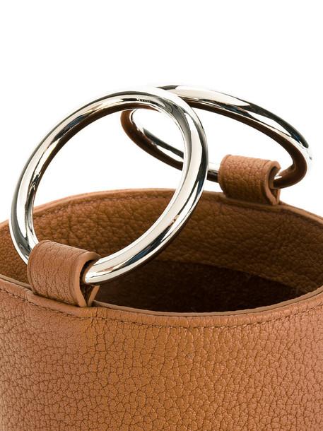 Simon Miller open women bag crossbody bag leather nude
