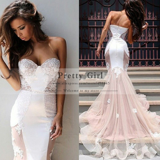 Aliexpress.com : buy vestido de noiva casamento romantic mermaid wedding dresses 2015 sweetheart backless sweep train fashionable wedding dress cheap from reliable dress for wedding reception suppliers on pretty girl trade co., ltd