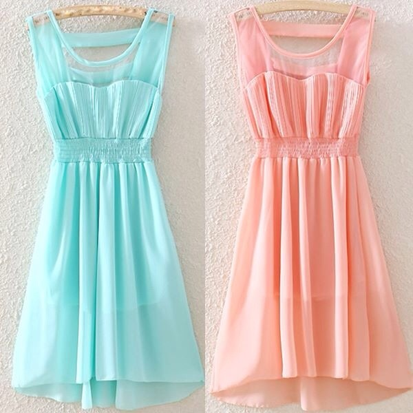 dress light blue cute mint pastel