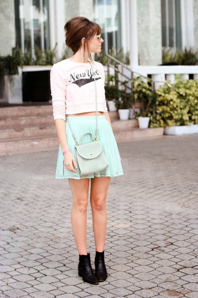 mint skirt hipster steffy's pros and cons shoes bag new york city