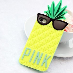 Amazon.com: 3d cute pineapple pattern soft silicone case cover for iphone 5 (yellow): cell phones & accessories